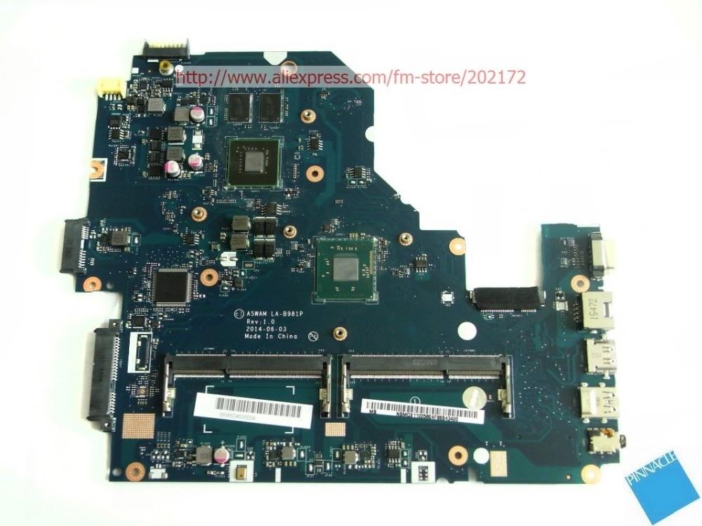 NBMQX11005 motherboard for Acer aspire E5-511G A5WAM LA-B981P /w GT820M la b981p rev 1 0 for acer aspire e5 511 e5 511g laptop motherboard geforce 820m ddr3l