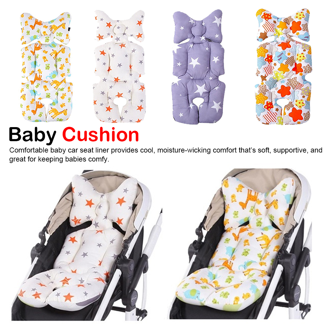 Baby Stroller Accessories Car Seat Thick Cushions 0 8 Year Baby Kids Care High Chair Seat Cushion Pushchair Strollers Pads in Strollers Accessories from Mother Kids