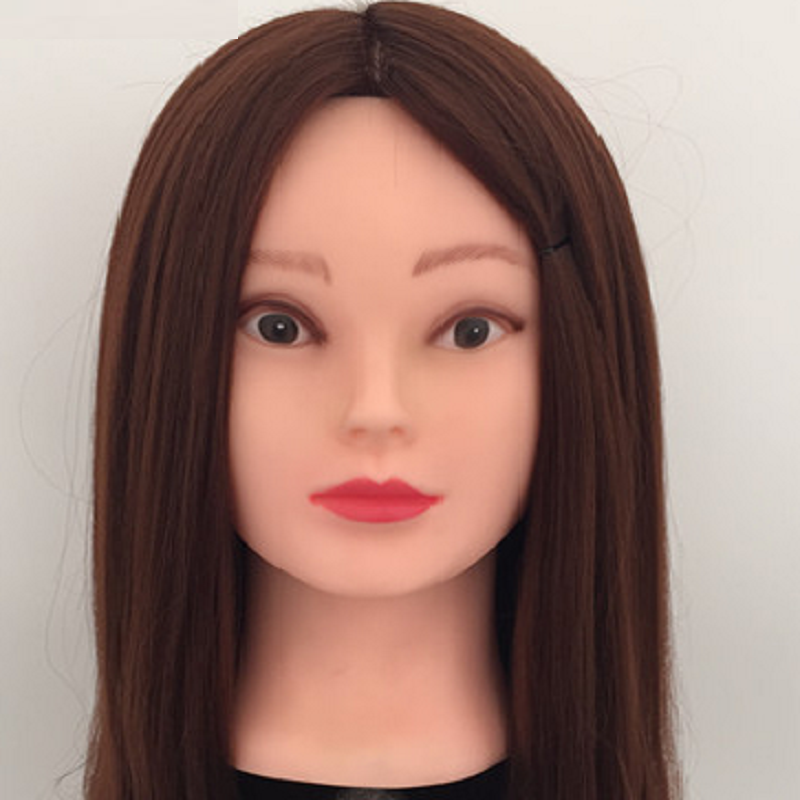 Brown Hair Mannequins Training Head For Hairdressers With Bracket Mannequin Head Hairdre ...