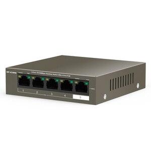 Image 2 - 5 Port Fast Ethernet Umanaged PoE Schalter mit 4 Port PoE 38W lan ethernet hub rj45 5 port 10/100Mbps netzwerk switch ethernet