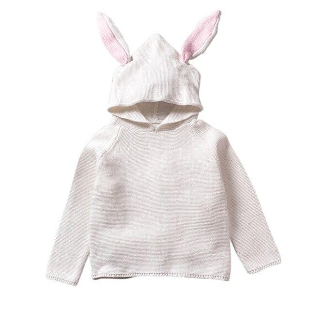 De Los bebés del Otoño Suéteres 3D Conejo Suéter de Algodón para ...