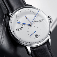 Nesun Men watches Brand Luxury Automatic Mechanical Watch Leather sapphire Waterproof Relogio Masculi Energy Display Clock N9603