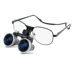 Lupa de vidrio óptico de 3,5X320mm herramientas de blanqueamiento Dental cirugía médica lupas Binocular