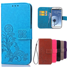 Luxury Case for Samsung Galaxy S3 Flip Wallet Leather Cover For Samsung S3 Case Galaxy I9300