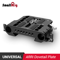 SmallRig DSLR Camera Plate Quick Release Arri Dovetail Clamp with 19mm Rod Clamp 1757