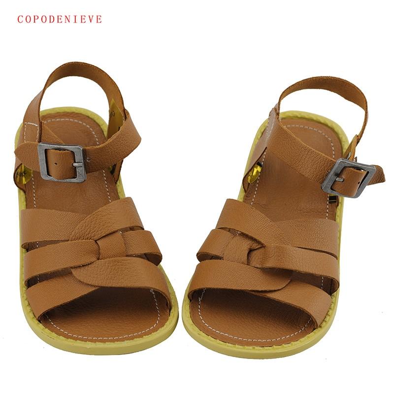 COPODENIEVE Summer Beach Boy Sandals Kids Genuine Leather Shoes Fashion Sport Sandal Children Sandals Boys Leather Casual Shoes