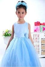Новый летний мода платье для девочек, Розовый красный цвет девушки вечерние платья, Прекрасные девочки платье, Конфеты принцесса пачки элегантный