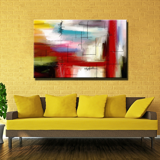 The most famous living room painting Abstract Art wall painting for ...