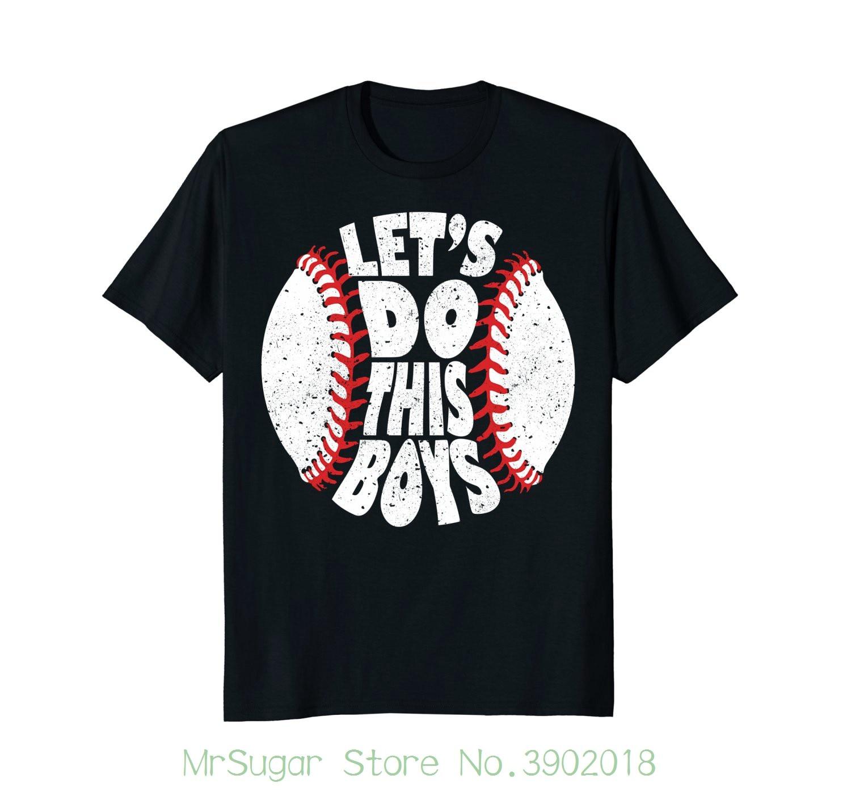 Давайте сделаем это мальчиков Бейсбол мама футболка Повседневное плюс Размеры футболки хип-хоп Стиль футболки S-2xl