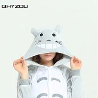 Winter Top Polar Fleece Totoro Unisex Adult Onesie Cosplay Costume Hoodies Pyjamas Sleep Wear