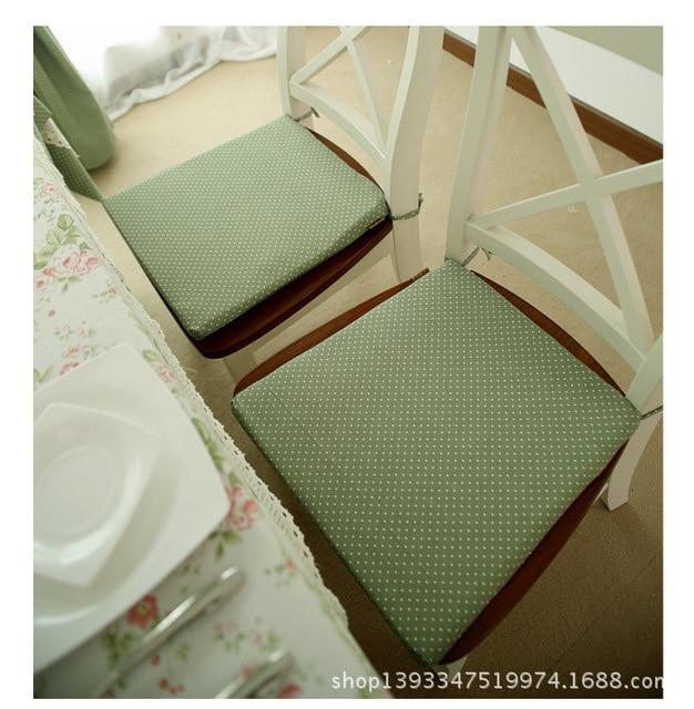 European Pastoral Style Printed Cloth Art Cushion Chair Cushion Sponge  Cushion Cushions
