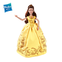 Hasbro Disney Princess Beauty and the Beast Enchanting Ball Gown Belle Action Figure Anime Collection Figurine Toys Girl Gift