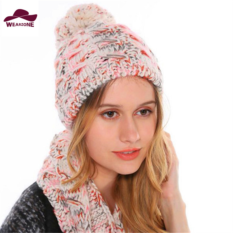 2015 Knitting Wool Beanies knitted winter hats for women brand beanie hat Skullies womens knit caps Beanies warm cap настольная лампа lucide blup 06512 01 30