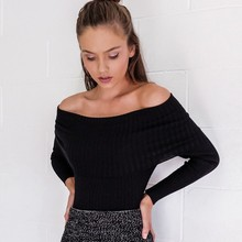 Off Shoulder Knitted Sweater 5 Colors