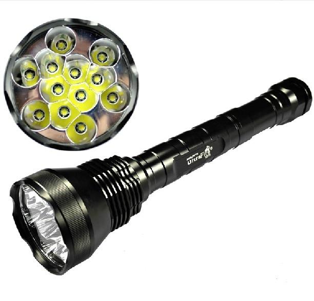 NEW [Sale] 13000 Lumen Super Bright 12x CREE XML T6 LED Flashlight Torch 5 Mode Aluminum Flash Light, Free Shipping free shipping wholesale 1pc 2000 lumen cree xml t6 led mini super flashlight 5modes cinnamon torch aluminum alloy[2601 t6]