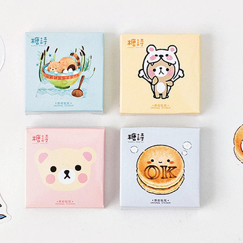 45 pcs/lot Cartoon animal Mini paper sticker decoration DIY ablum diary scrapbooking label sticker kawaii stationery