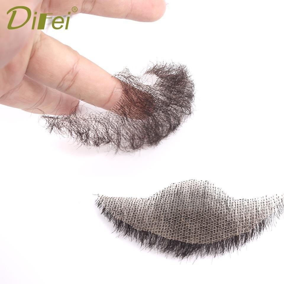 DIFEI Pure Handmade Crocheted False Beard Invisible Set Of Beards Men's Beard Makeup Facial Hair Synthetic Wig Beard Products