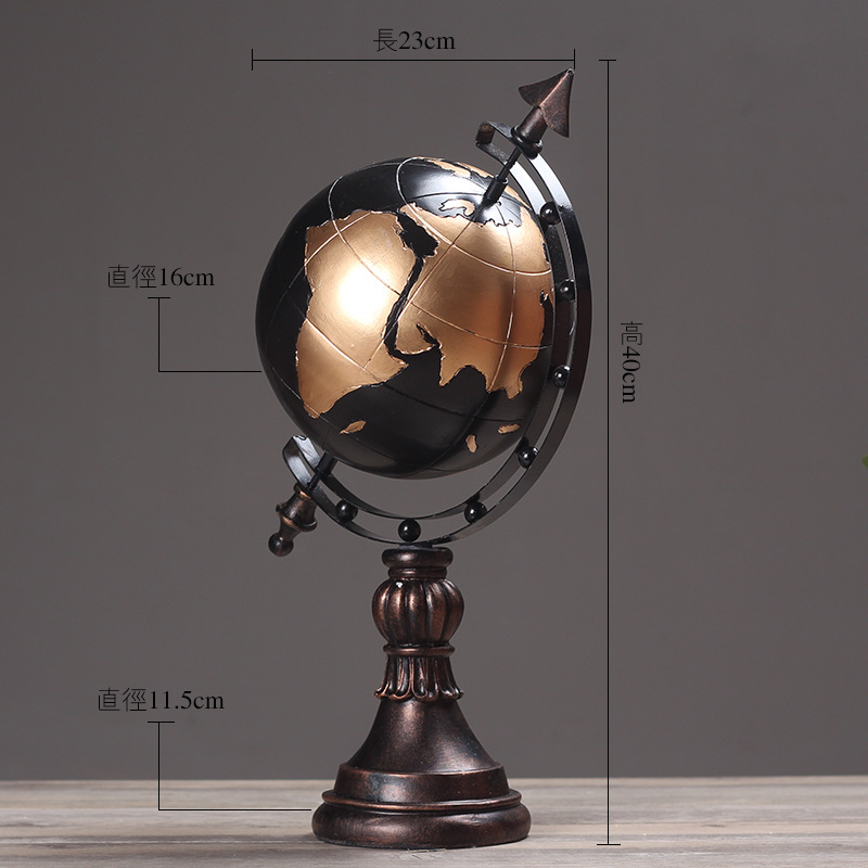 Ancient vintage american style world globe ornaments globe map of ancient vintage american style world globe ornaments globe map of earth geography study tool cafe bookcase desktop decoration in figurines miniatures from gumiabroncs Gallery