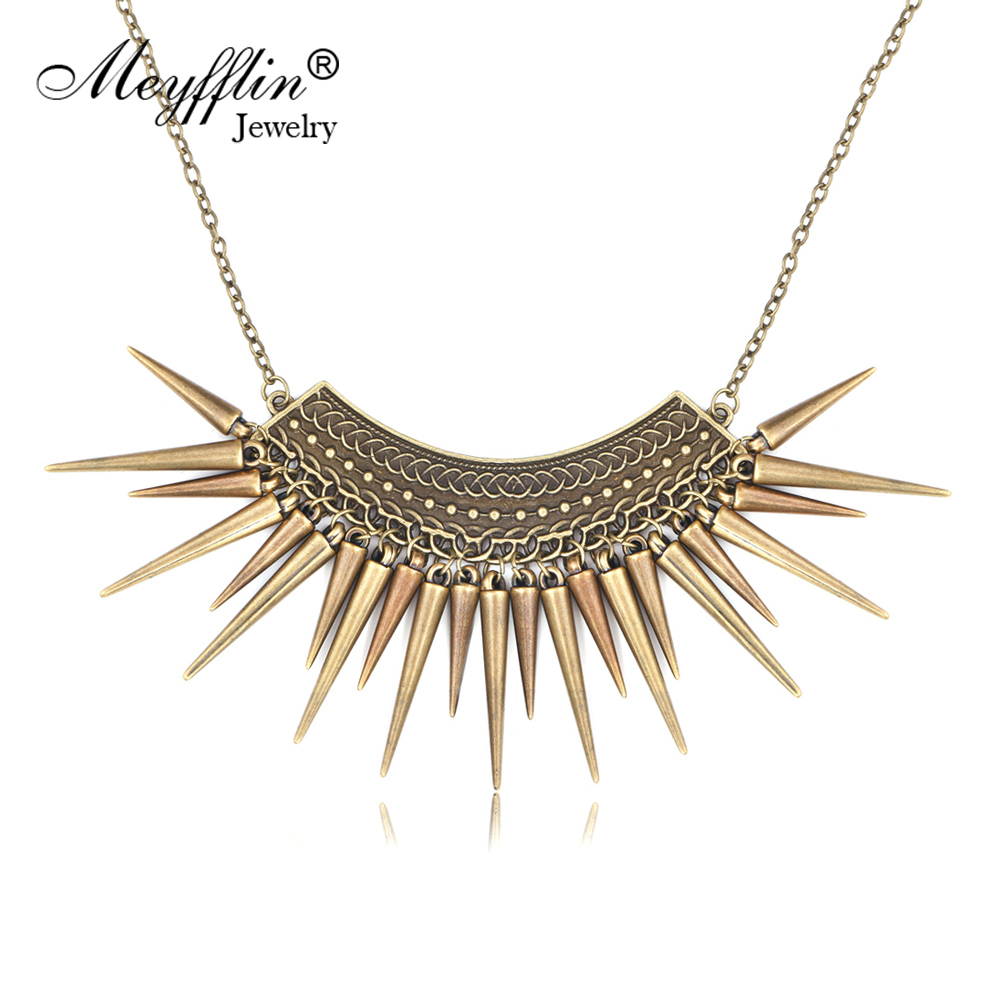 Colar Vintage Feminino 2019 Maxi Statement Necklaces & Pendants Collier Femme Jewelry Collar Fashion for Women Boho Accessories