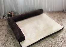 COXEER Detachable Cat Dog Foam Bed Sofa Fits for Within 12.5kg Pets(Coffee, M)