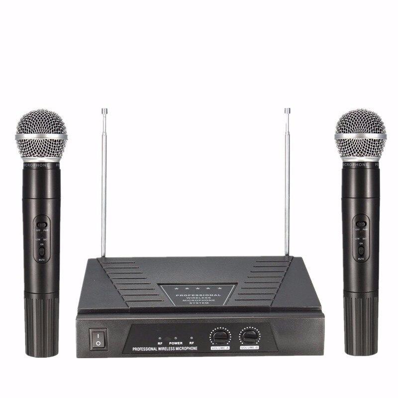 ФОТО New High Quality 50Hz Dual Handheld VHF 2 x Wireless Microphone Mic Radio System Receiver For Karaoke