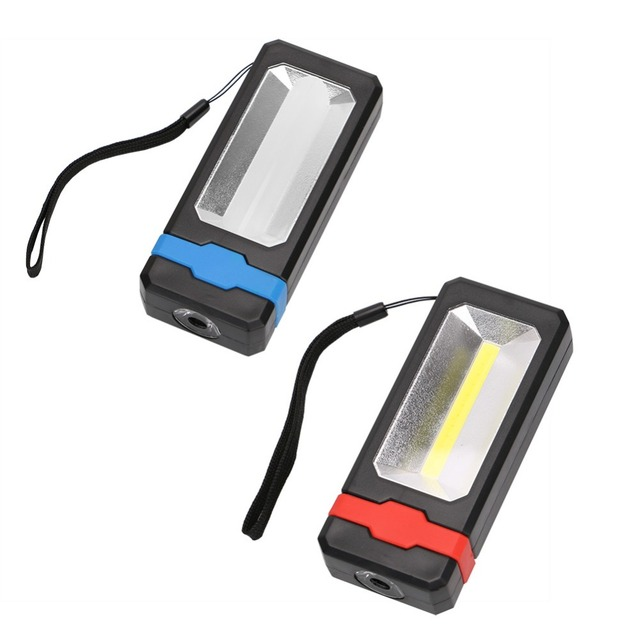 Portable Mini 2 * LED lampe de poche de travail magnétique voiture réparation durgence Camping lampe torche avec aimant bleu/rouge