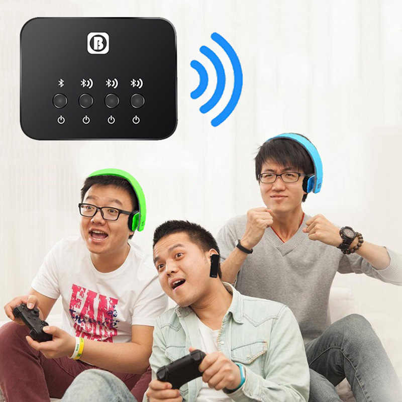 Kebidu Bluetooth передатчик приемник Bluetooth передатчик для телевизора Dual Link Беспроводной музыкальный аудио адаптер для наушников/динамика
