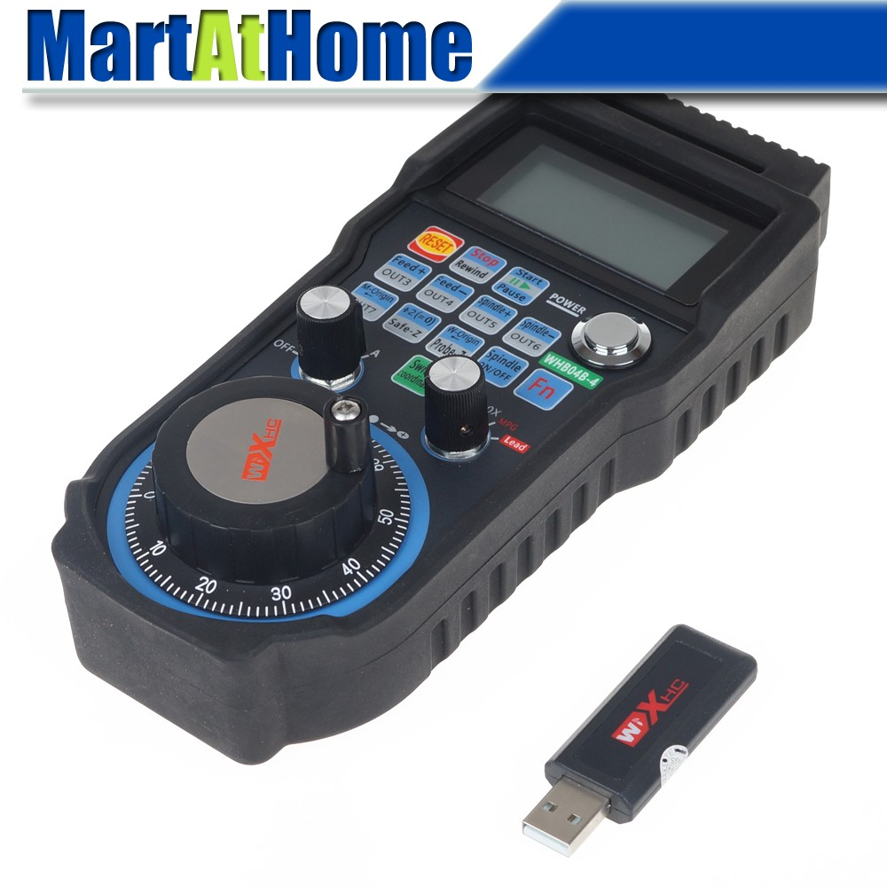 CNC 4 Axis Wireless Mach3 MPG Pendant Handwheel Controller for CNC Machine lathe #SM731 @SD  цены