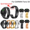 Genuine Stainless Steel Bracelet Quick Replacement Fit Band Strap Wristband For Garmin Fenix 5X GPS
