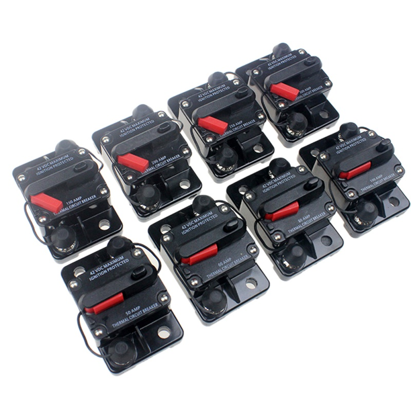 12V-42V <font><b>DC</b></font> Car Audio Amplifier Circuit Breaker Fuse Holder Style Stereo Audio Fuses image