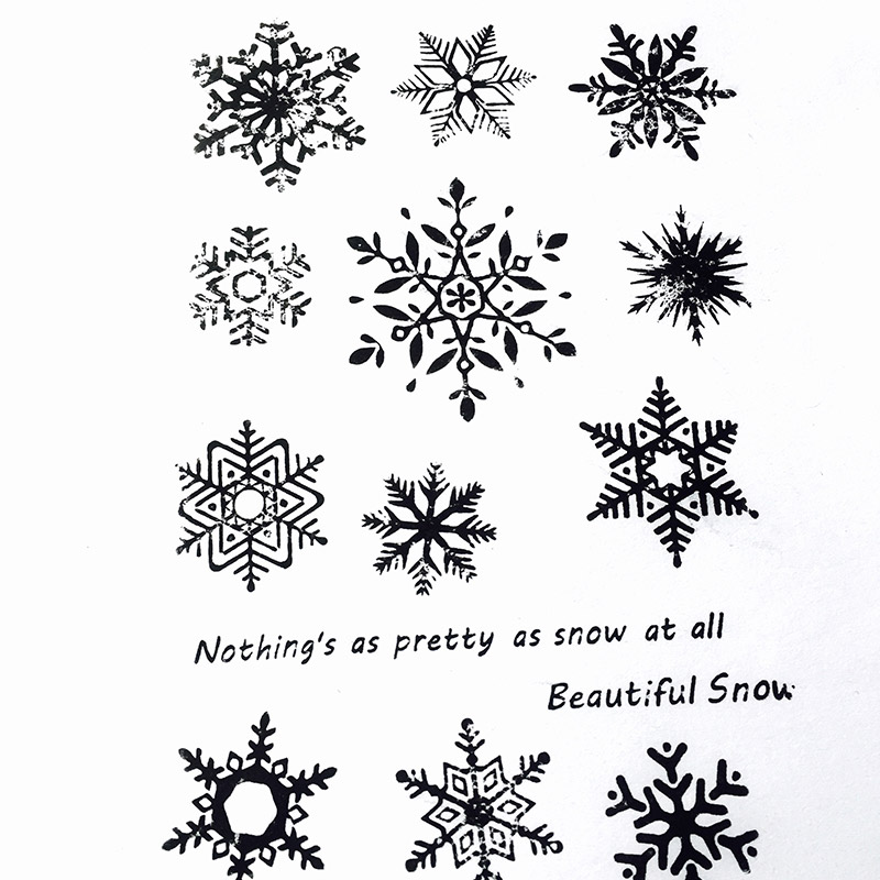 Beautiful Snowflake Clear Stamps for Scrapbooking DIY Silicone Seals Photo Album Embossing Folder Paper Maker Template Crafts in Stamps from Home Garden
