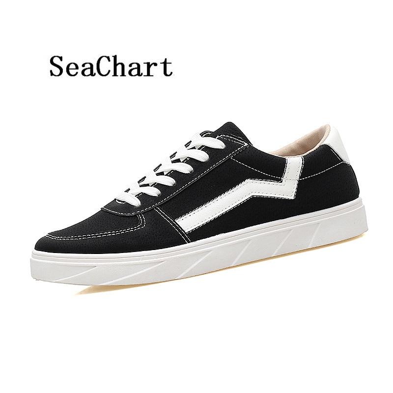 Prix pour SeaChart Hommes de Planche À Roulettes de Chaussures Chaussure Homme Nouveau Arrivée Hommes Sneakers Mâle Plat Chaussures Hommes Chaussures 39-44 livraison Gratuite