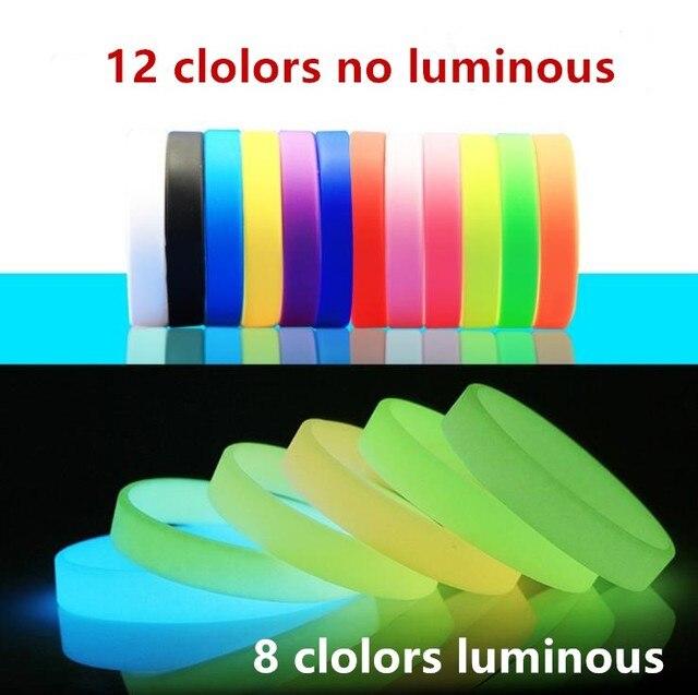 b9ac42a76cd2 2 piezas concierto luminosa pulseras de silicona adultos chico de pulsera  de goma de las mujeres