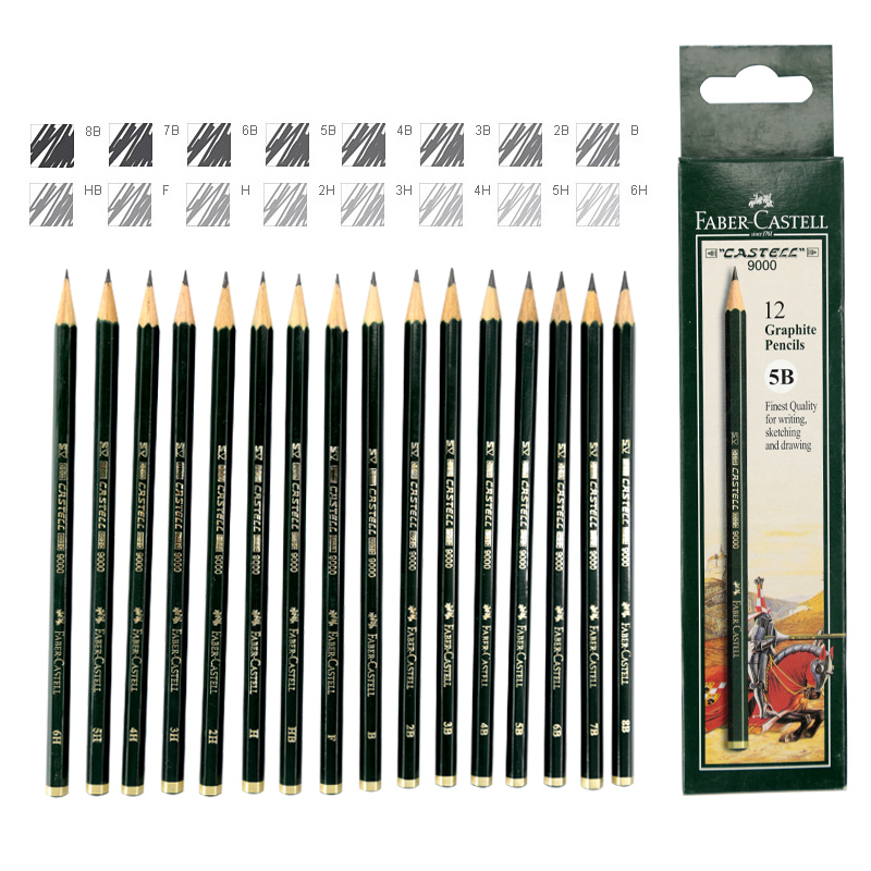 FABER CASTELL 9000 sketch pencil professional painting art pencil design special writing scribble scribble pen faber castell 25 pieces of pencil sketch sketch article carbon combination 112969
