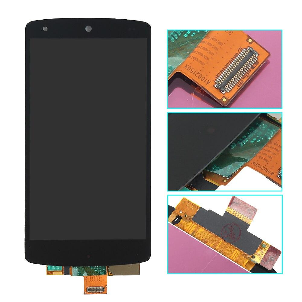 imágenes para Negro Para LG Google Nexus 5 D820 D821 Pantalla LCD de Pantalla Táctil Digitalizador Asamblea negro Libre del envío + Tracking No.