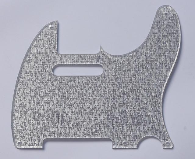 Silver Sparkle 5 Hole Tele Pickguard Scratch Plate Fits Usa Fender