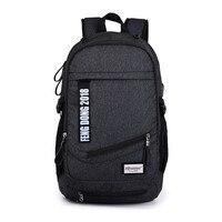 Boys School Bags Men Backpack Bag Waterproof Black Backpack USB Student Book Bag Bagpack Women Travel