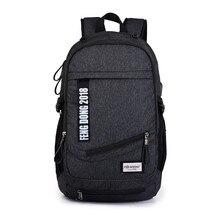 Фотография boys school bags men backpack bag waterproof black backpack USB student book bag bagpack women travel bags male computer bag
