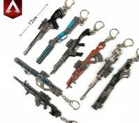 Gra APEX legendy bohatera pistolet Model brelok wisiorek breloczek torba Car Key łańcuchy akcesoria prezent figurka dla mężczyzn kobiety