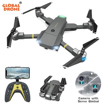 Global Drone RC Quadrocopter with Camera Adjustable Servo Gimbal 20 Minutes Flight Time Selfie Dron FPV Drones VS SG900 E511 E58 Квадрокоптер