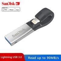 Sandisk iXPAND USB 3.0 OTG Flash Drive 32GB 64GB Lightning to Metal Pen Drive 128GB U Disk For iPhone iPad iPod Memory Stick