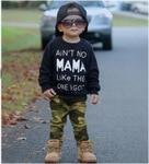 2017 Newborn Autumn Letter Printed Black Long Sleeves Shirt Camouflage Pants Baby Boys Sets 2Pcs Kids Clothing Fashoin Hot Sale