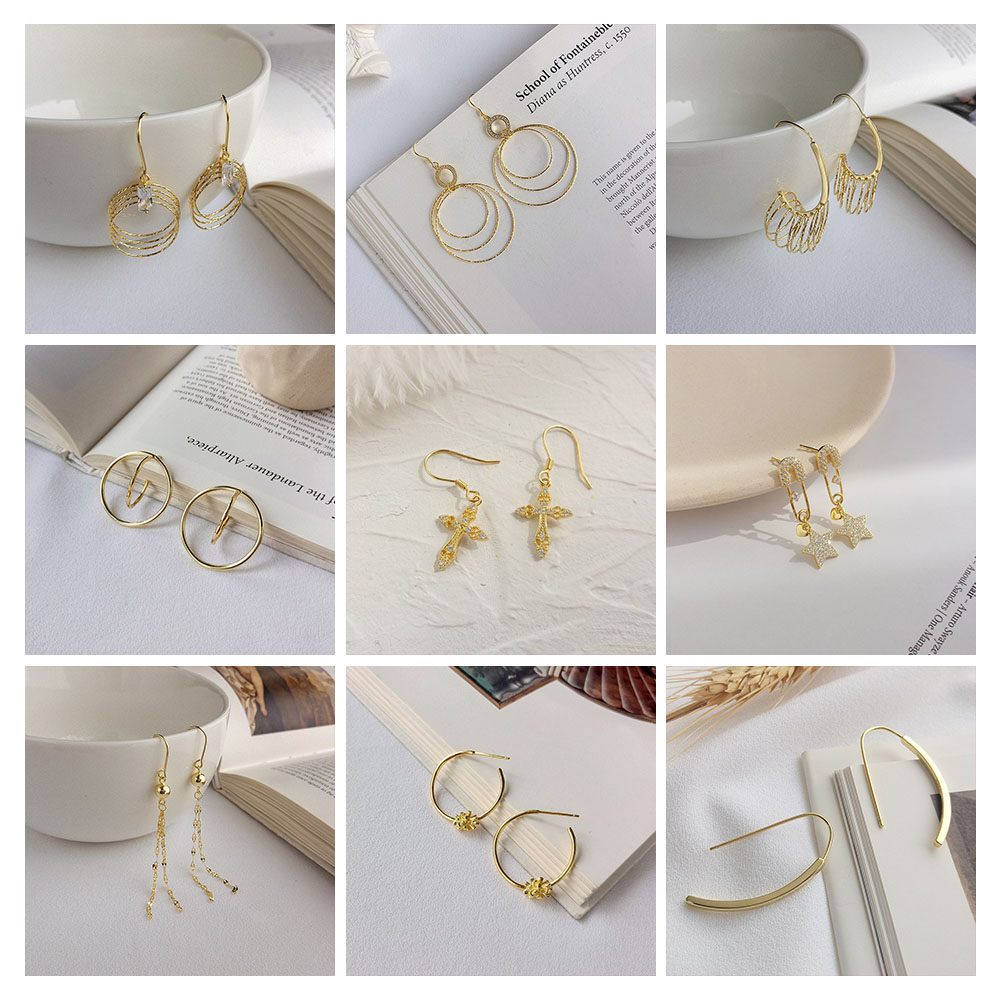PONYKISS Trendy 100% 925 Sterling Silver Hot Fashion Golden Geometric Hoop Earrings Women Party Holiday Chic Accessory Fine Gift