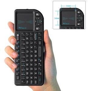 Image 3 - Originele Rii X1 2.4GHz Mini Draadloze Toetsenbord Engels Toetsenbord met TouchPad voor Android TV Box/Mini PC/ laptop