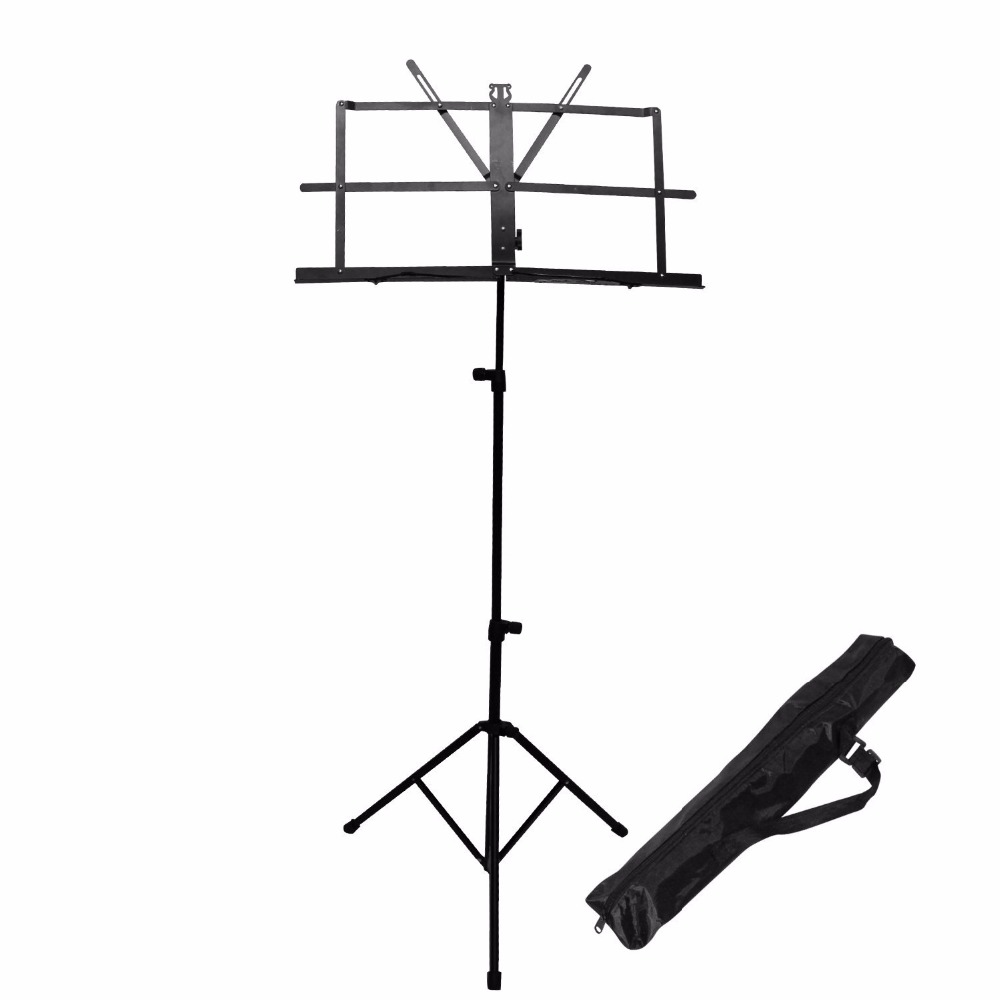 Metal Holder for Sheet Music Accessories Folding Portable Bold Music Stand Tripod with Carrying Bag leory universal 50kg loading folding projector stand tripod with metal stand