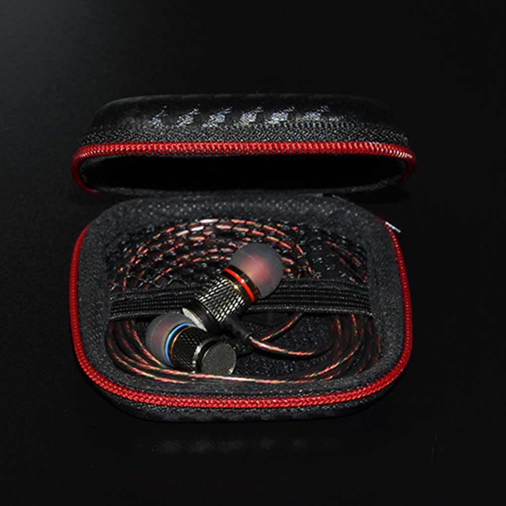 Tragbare Universal Mini Kopfhörer Kopfhörer Fall Earbuds SD Karte Hard Tasche