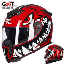 GXT Motorcycle Helmet Full Face Moto Helmets Double Visor Racing Motocross Helmet Casco Modular Moto Helmet Motorbike Capacete # new gxt 160 flip up motorcycle helmet double lense full face helmet casco racing capacete