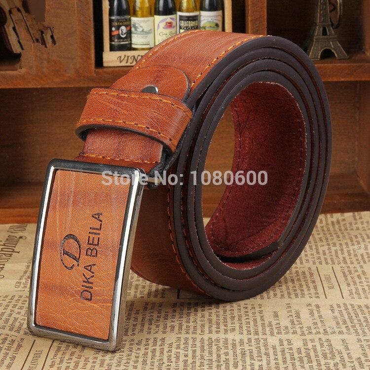 Wholesale DIKA Men Jeans Pu  Leather  Dress Belt  With Interlock Belt