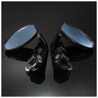 TOYL Pair 7 8 Universal Motorbike Motorcycle Handle Bar End Rearview Side Mirrors Black