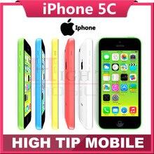 Unlocked Original Apple iphone 5C phone 8MP Camera 16GB 32GB ROM IOS 8 4.0″ Wifi GPS WCDMA 3G Free Shipping Used 1 year warranty